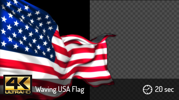 Waving US Flag