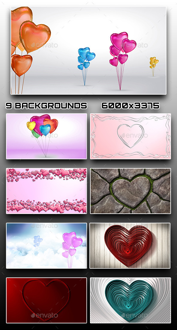 GraphicRiver 9 Valentine s Day Backgrounds 10272949