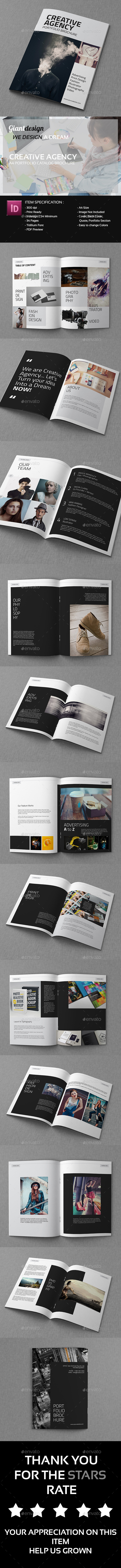 GraphicRiver Creative Agency A4 Portfolio Catalog Brochure 10273249