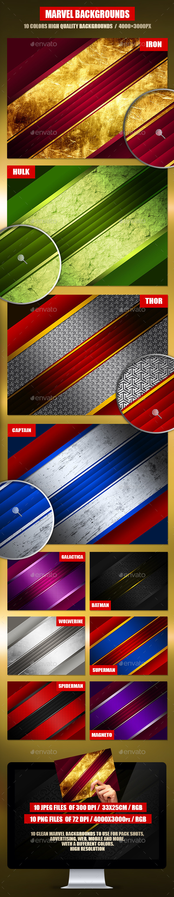 GraphicRiver Collection Marvel Backgrounds 10273275