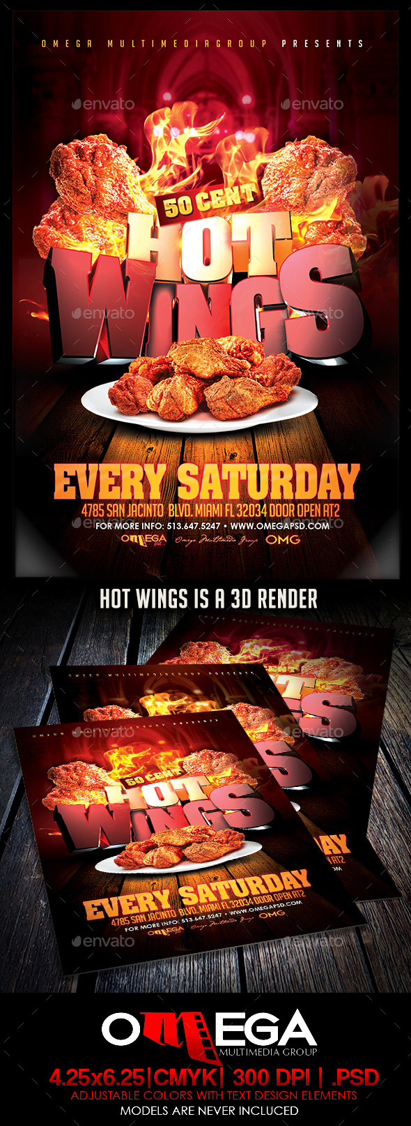GraphicRiver Hot Wings 10240678