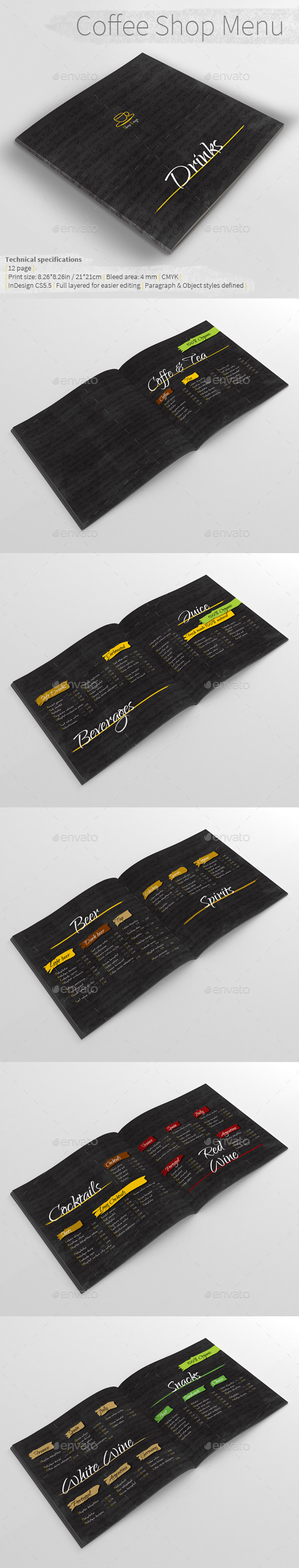 GraphicRiver Coffee Shop Menu 10273672