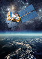 Space satellite over the planet earth - PhotoDune Item for Sale