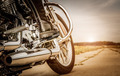 Biker girl riding on a motorcycle - PhotoDune Item for Sale