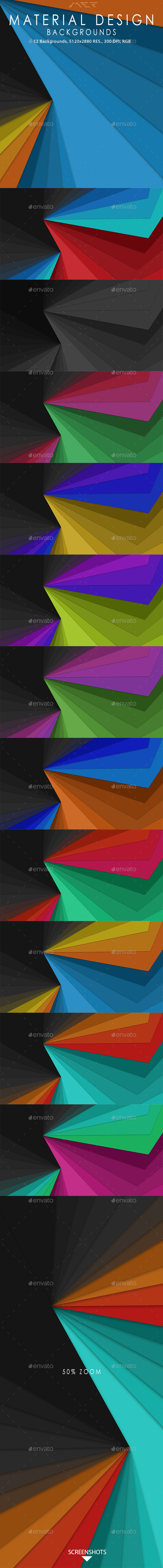 GraphicRiver Material Design Backgrounds 10274170