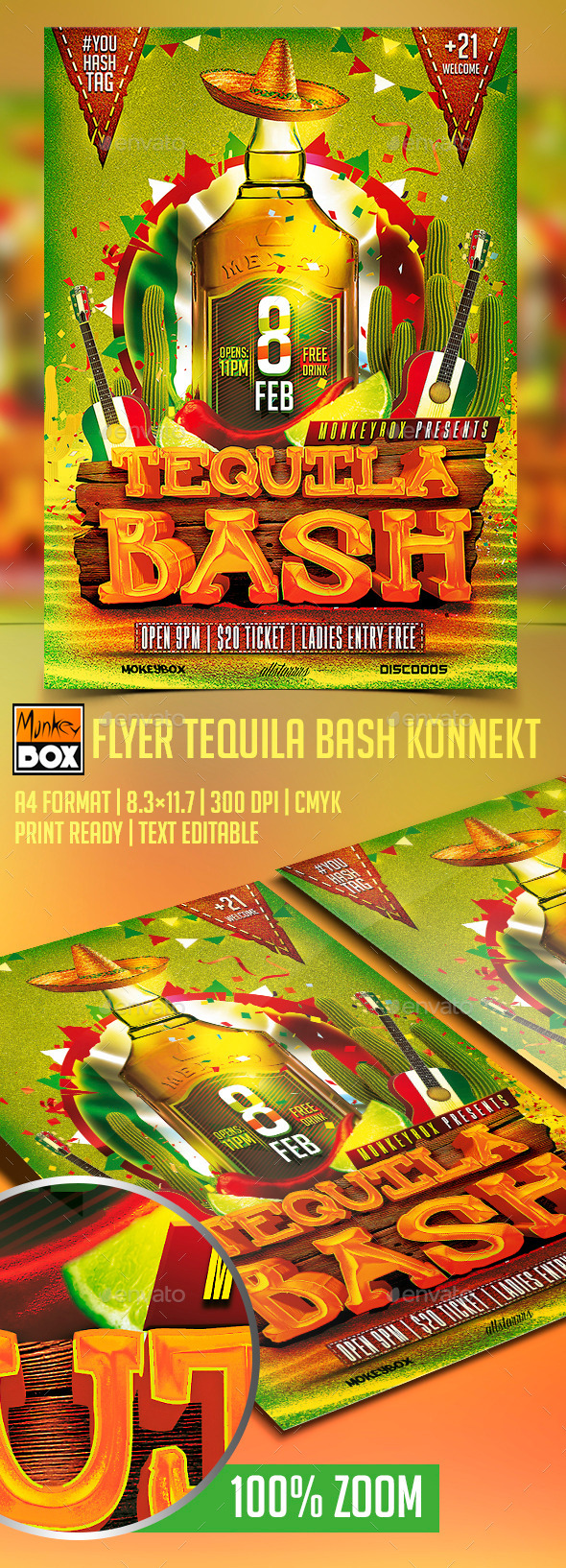GraphicRiver Flyer Tequila Bash Konnekt 10274196