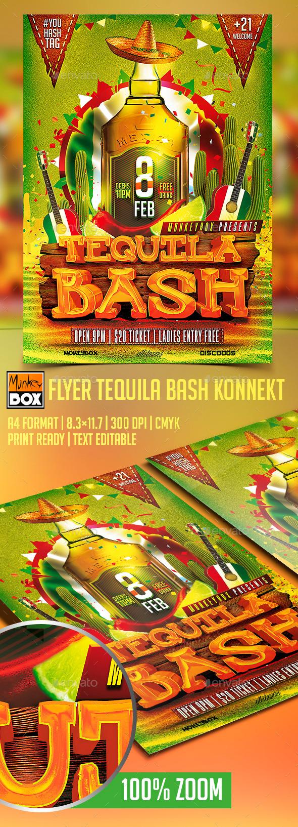 Flyer Tequila Bash Konnekt