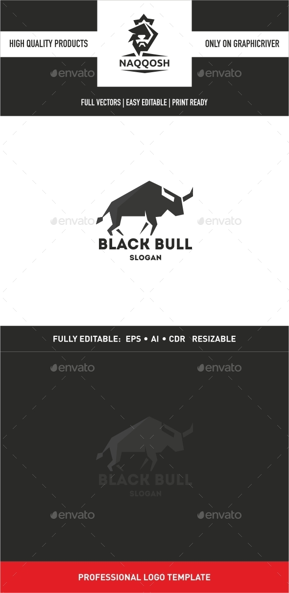 GraphicRiver Black Bull Logo Template 10274199