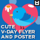 Cute Valentine's Day Flyer / Poster - GraphicRiver Item for Sale