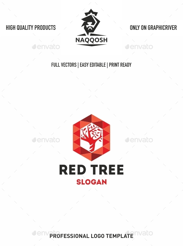 GraphicRiver Red Tree 10274476