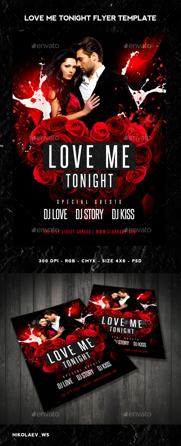 GraphicRiver Love Me Tonight Flyer 10274489