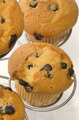 chocolate chip muffin on a metal cake stand - PhotoDune Item for Sale