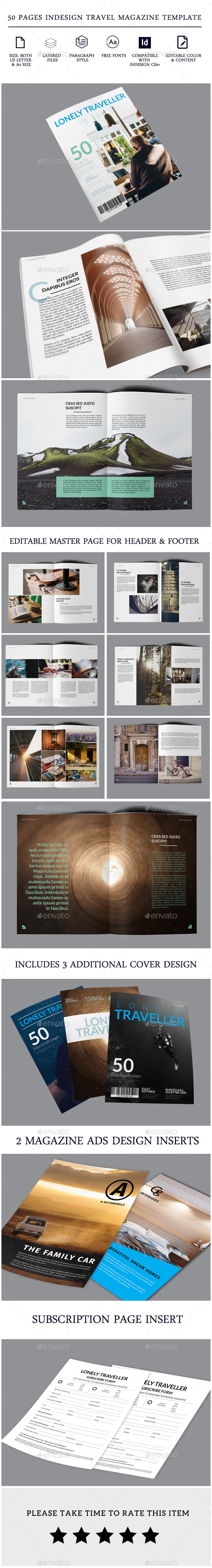 50 pages Indesign Magazine Template Brochure