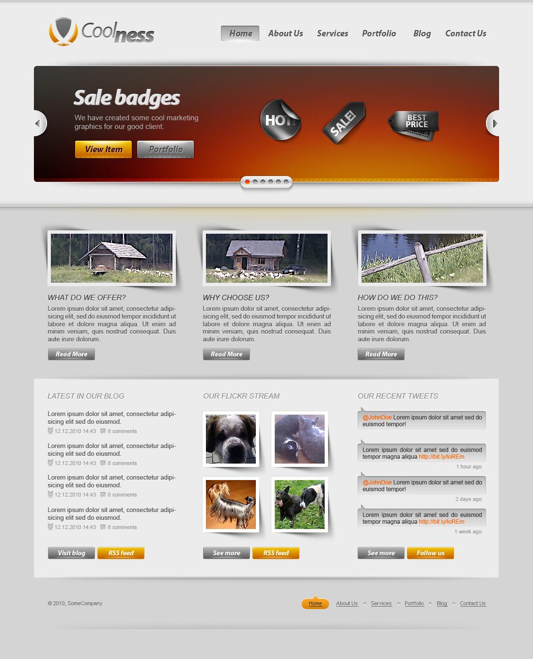 Corporate Web2 Site (Blog & Portfolio)