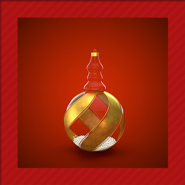 HiRes Christmas Decoration 14 - 3DOcean Item for Sale