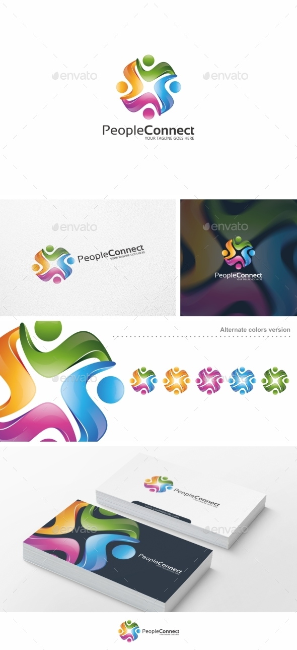 GraphicRiver People Connect Logo Template 10275315