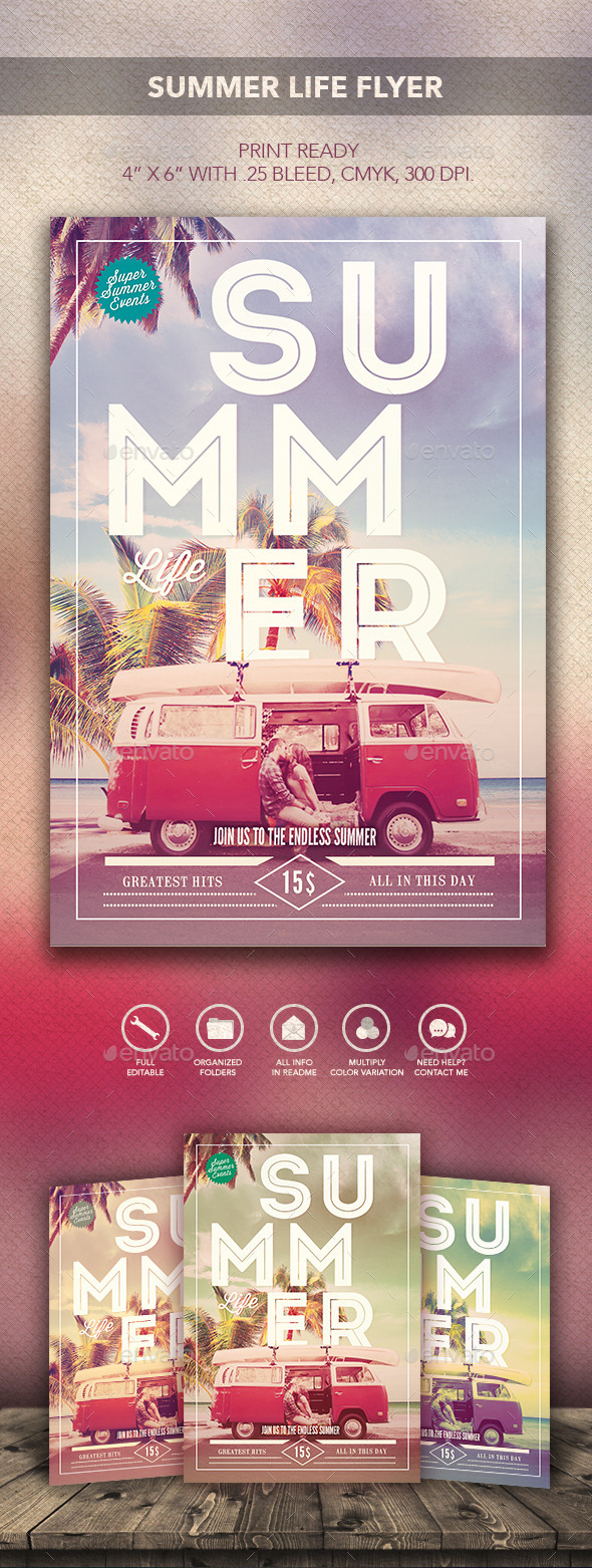 GraphicRiver Summer Life Flyer 10275326