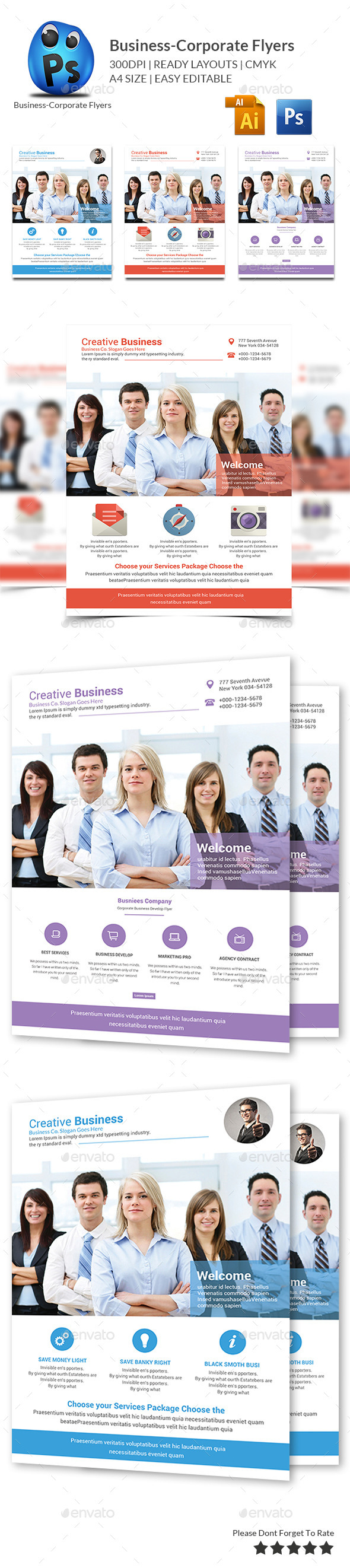 GraphicRiver Corporate Business Flyer Template 10275355