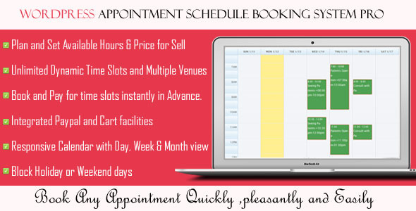 CodeCanyon Wordpress Appointment Schedule Booking System Pro 10275446