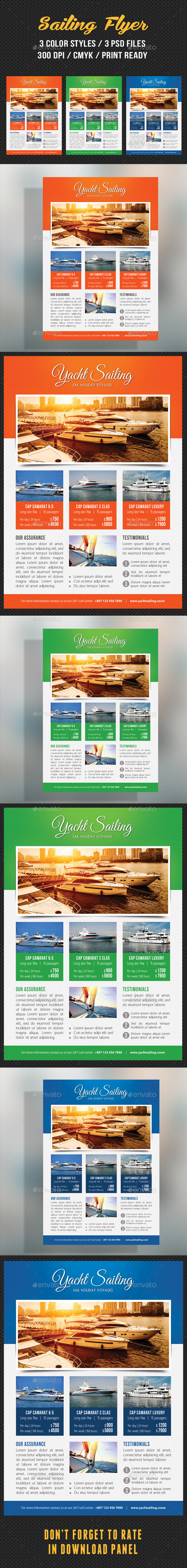 GraphicRiver Sailing Yacht Travel Flyer 03 10275528