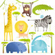 African Animals Fun Cartoon Clip Art Collection - GraphicRiver Item for Sale