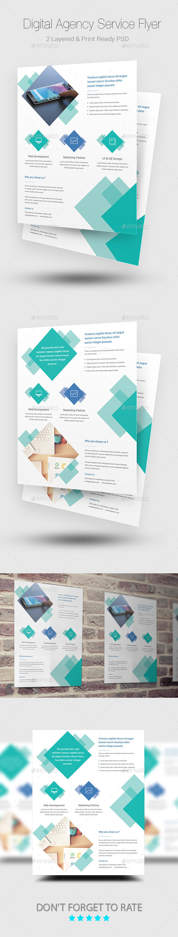 GraphicRiver Digital Agency Flyer Templates 10275547