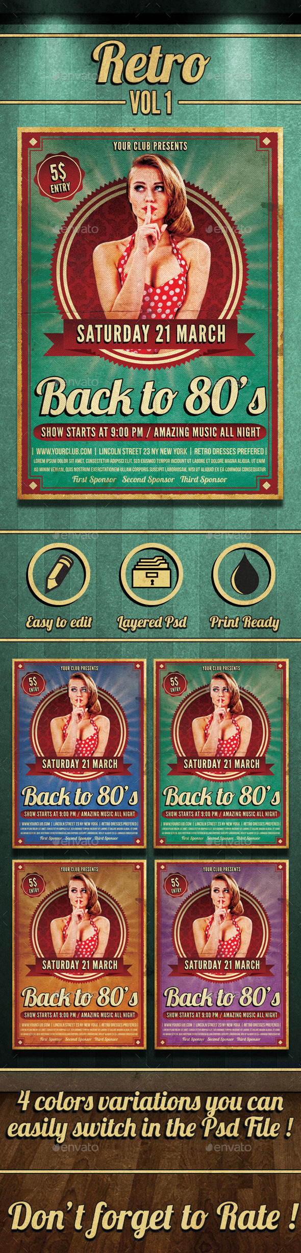GraphicRiver Retro Flyer 10245248