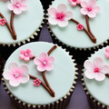 Cherry blossom cupcakes - PhotoDune Item for Sale