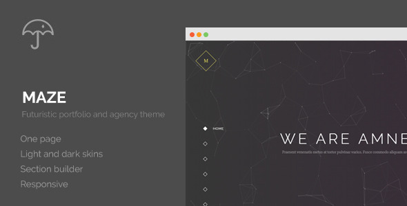 Maze Creative Agency Portfolio WordPress Theme
