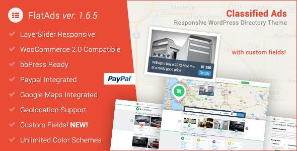 FlatAds - Classified AdsWordPress Theme - Directory & Listings Corporate