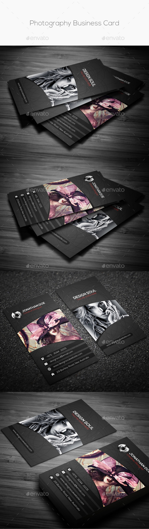 GraphicRiver Photography Business Card 10277117