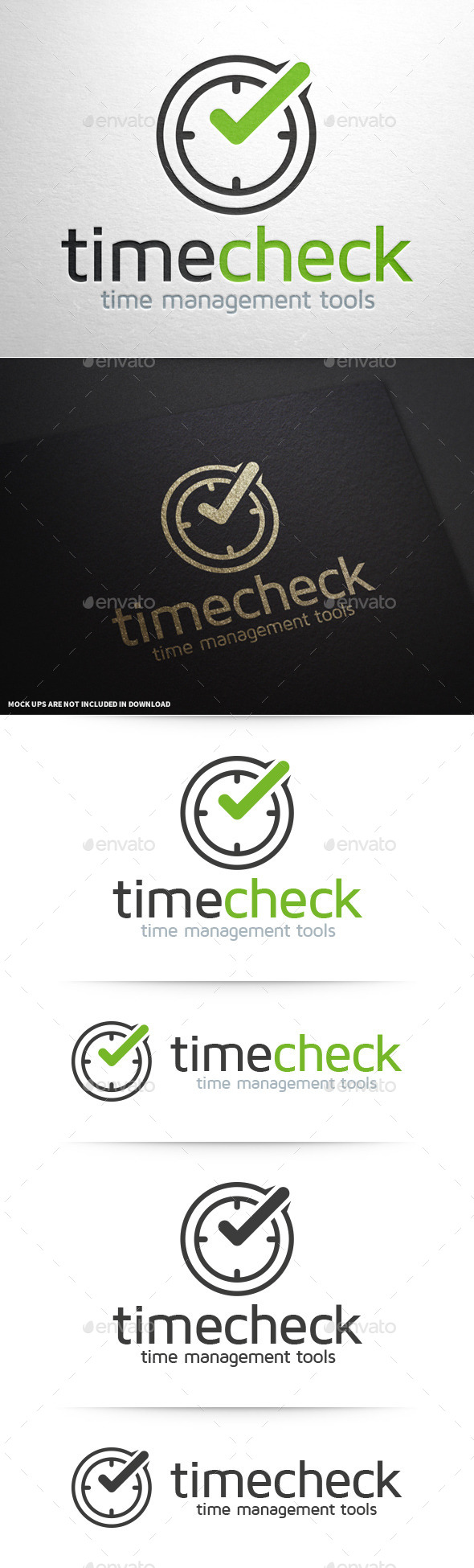 GraphicRiver Time Check Logo Template 10277194