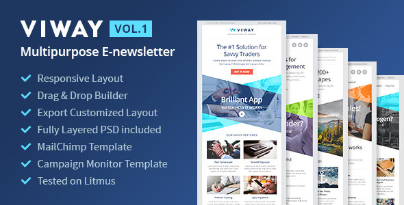ThemeForest Viway Multipurpose Email Vol.1 & Builder Access 10277269