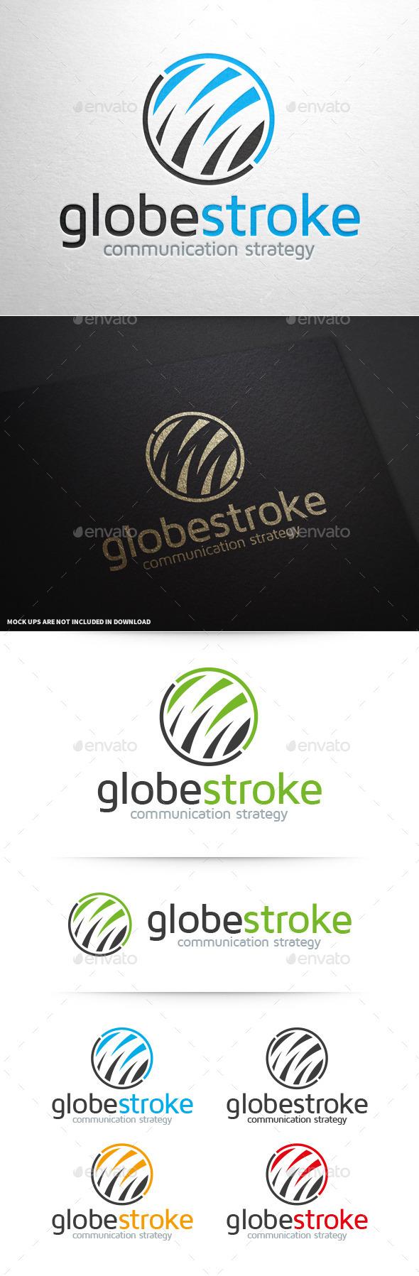 GraphicRiver Globe Stroke Logo Template 10277584