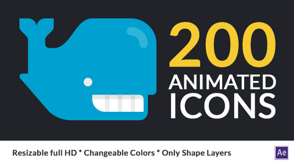 200 Flatilicious Animated Icons