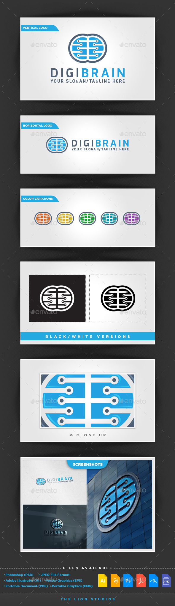 GraphicRiver DigiBrain Logo 10278299
