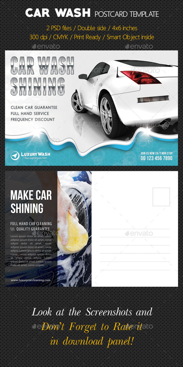 GraphicRiver Car Wash Postcard Template 10278307