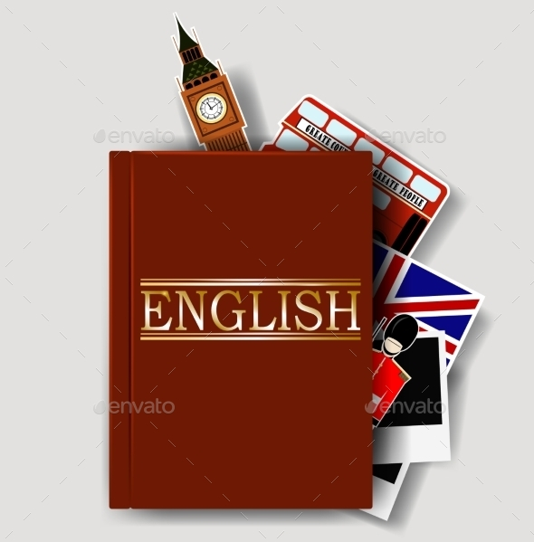 GraphicRiver Red English Dictionary 10278358