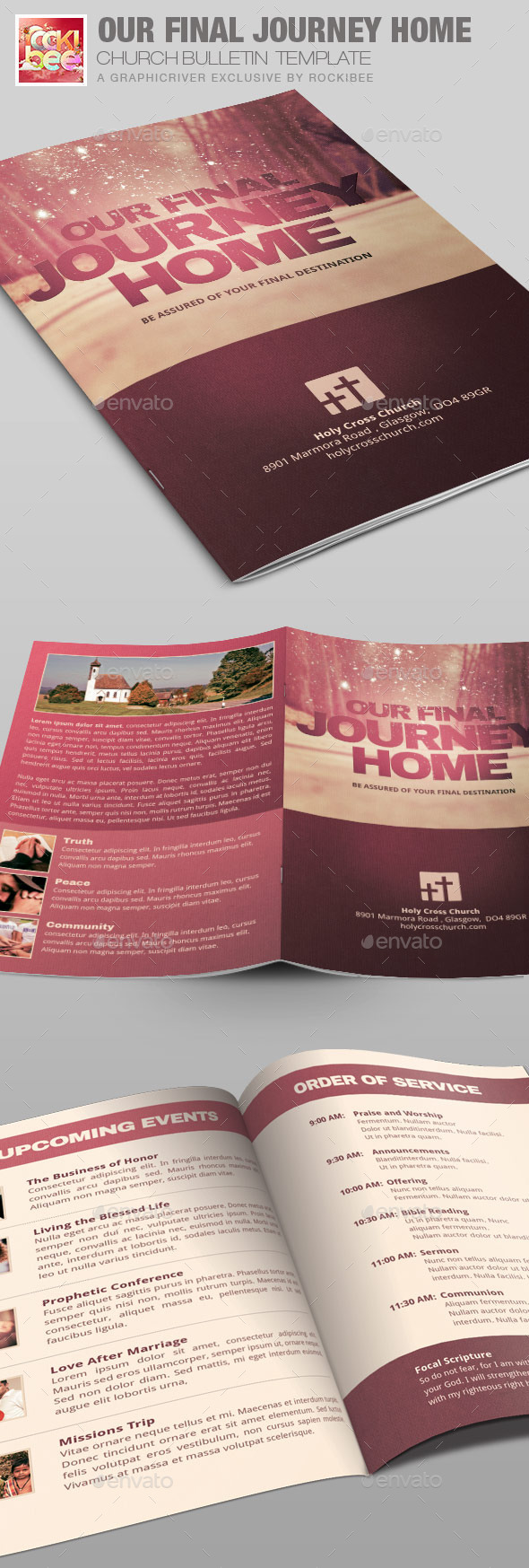 GraphicRiver Our Final Journey Church Bulletin Template 10278854