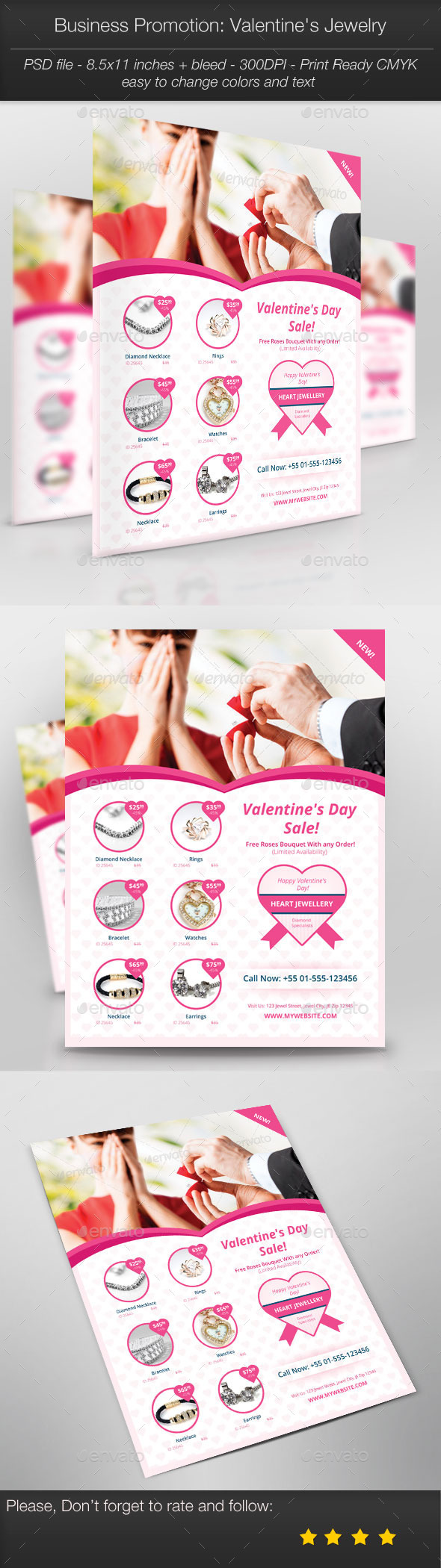 Business Promotion Valentine s Jewelry