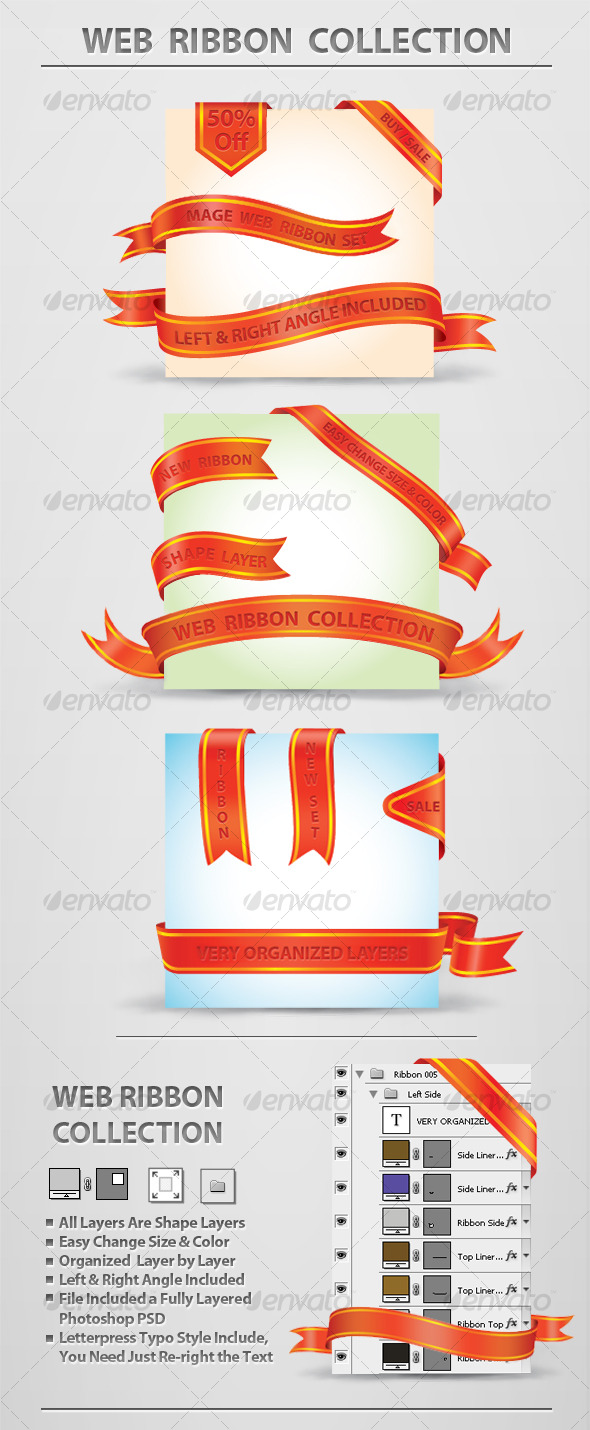 GraphicRiver Web Ribbon Collection 129671