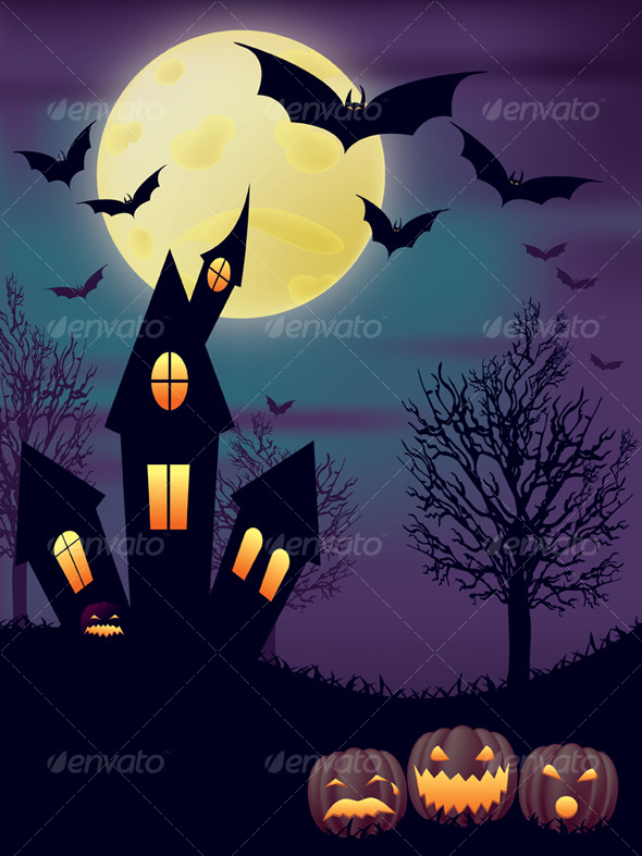 GraphicRiver Night Halloween Scene 129673