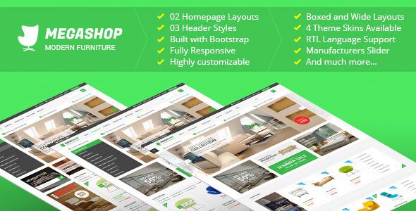 ThemeForest Megashop Premium Responsive Prestashop Theme 10279721