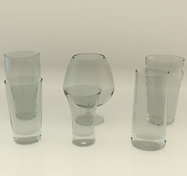3DOcean Realistic detailed glass collection 6 pack 1034965