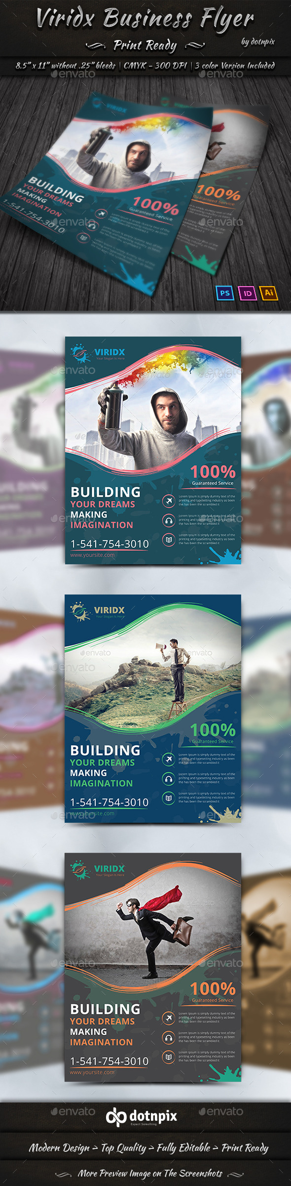 GraphicRiver Viridx Business Flyer 10279997