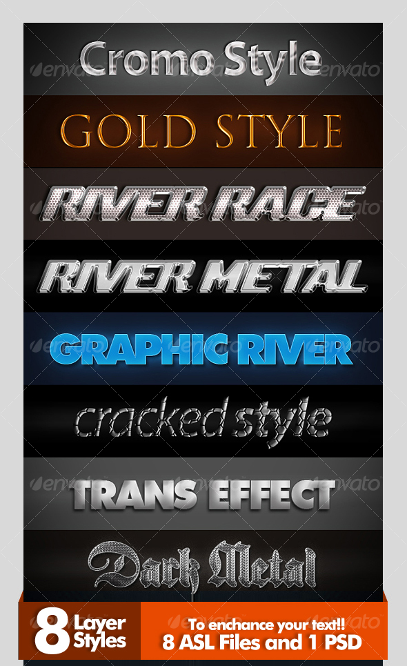 8 Amazing Layer Styles  - Text Effects Styles