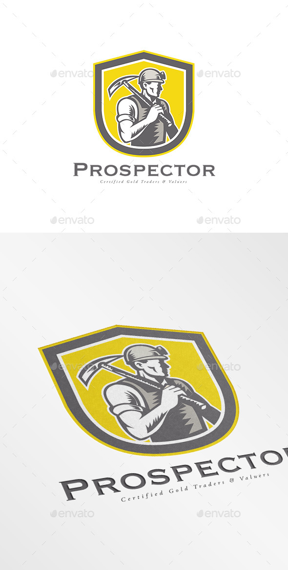 GraphicRiver Prospector Gold Traders Logo 10280221