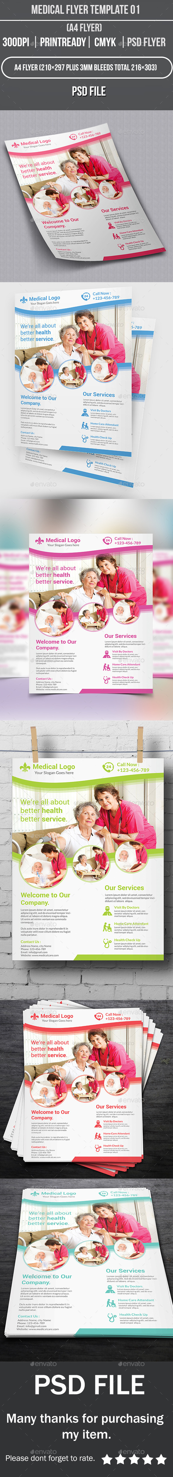 GraphicRiver Medical Flyer Template 01 10280636