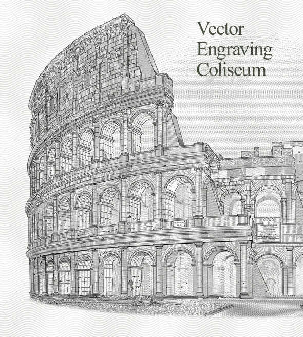 GraphicRiver Engraving Coliseum 10272786