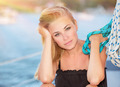Beautiful woman on the sailboat - PhotoDune Item for Sale